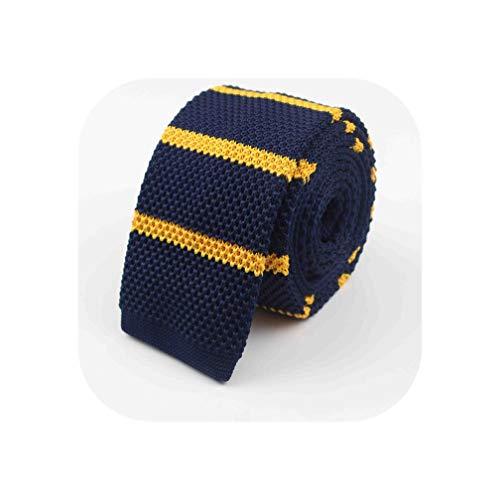 Men Knitted Knit Leisure Striped Ties Fashion Skinny Narrow Slim Neckties For Men Skinny Woven Designer Neck Tie,22