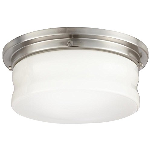 Home Decorators Collection 13 in. Brushed Nickel LED Flushmount-23951