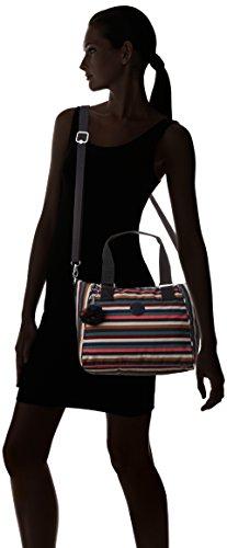 Varios Bolso Striped Colores Mujer Multi de de mano Kipling Sintético qYwdSpFpx