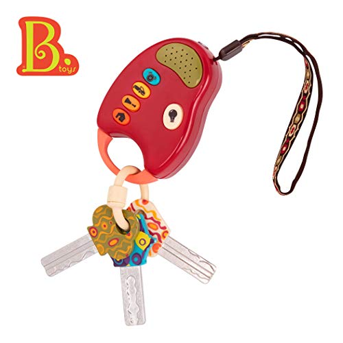 B. toys - FunKeys Toy - Funky Toy Keys for Toddlers and Babies - Toy Car Keys and Red remote with Light and Sounds -100% Non-Toxic and BPA-Free