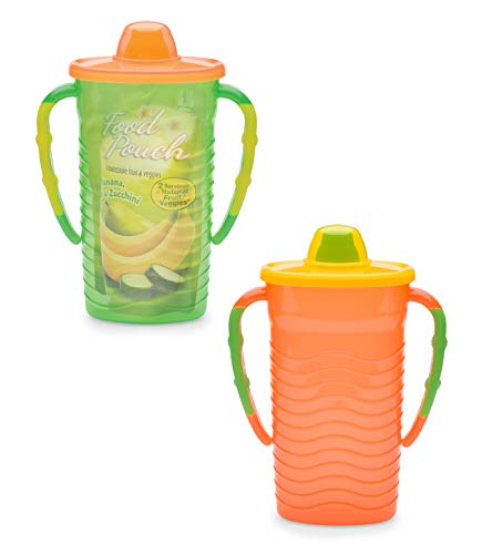 Mommys Helper Pouch Mate Food Pouch Holder, Orange/Green/Yellow -