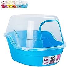 Petphabet Jumbo Hooded Cat Litter Box, Extra Large, Light Blue