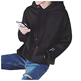 Men's Loose  Hooded Fleece Sweatshirt
