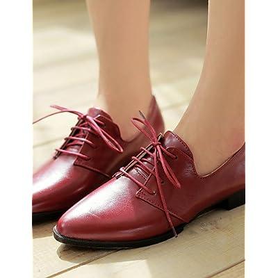 Plat NjxHug pour femme similicuir Talon Bout Chaussures en 13uT5lFJcK