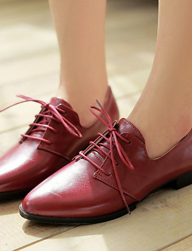 confort Scarpe donna Heel Bout Nero Marrone Uk3 Dress Njx Bianco Cn34 Large Outdoor Red us5 Casual Work Rosso Office da Eu35 6dqqEx4