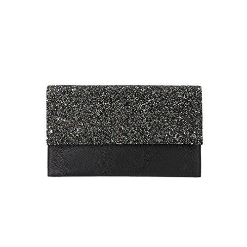 Black Black2 Evening Party Novias Sequined Women Boutique Clutch Cosmetic Handbag Fashion Bag RARPwvqx