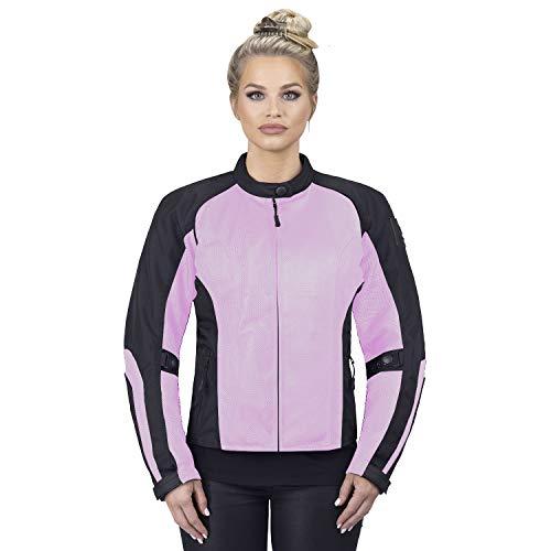 (Viking Cycle Warlock Women's Mesh Motorcycle Jacket (Pink, Small))