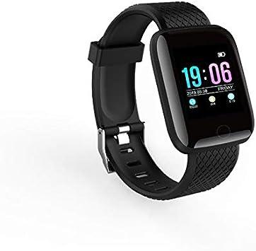 WERNG Hombres Mujeres Impermeable Digital Reloj Inteligente Presión Cardíaca Frecuencia Deporte Fitness Tracker ...