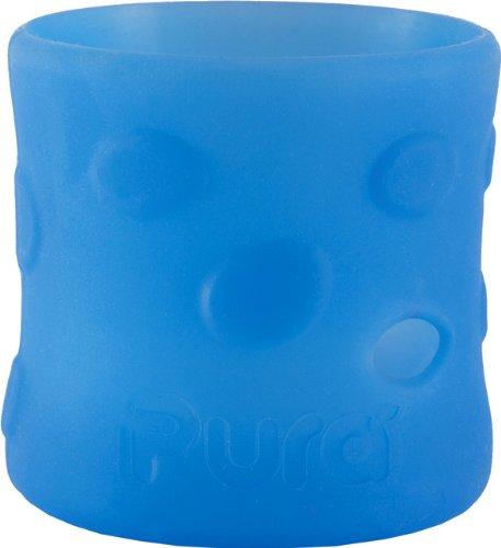 Pura Kiki Pebble Silicone Bottle Sleeve, Blue, Short