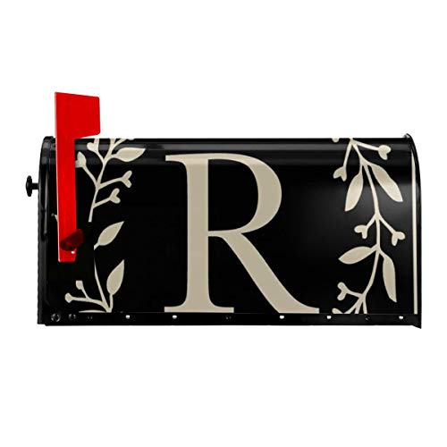 Affany Magnetic Mailbox Cover, Superior Weather Durability, Waterproof Letter R Letter Post Box Cover for Home Gardern Yard Outdoor Decoration 21x18 in (Cover Mailbox Personalized)