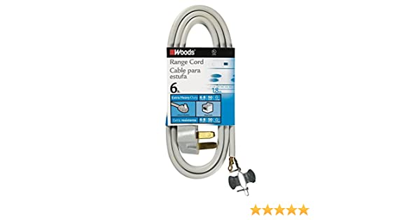 Amazon.com: Woods 0986 6/2 8/1 SRDT 50-Amp Range Appliance Power Supply Cord, Grey: Home Improvement