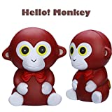 Jinjin 2PCs Funny Cute Monkey Toy,Scented Charm Slow Rising Stress Relief Toy Gift (Coffee)