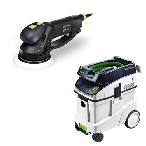 Cheap Festool RO 150 FEQ 6″ Dual Mode Rotex Sander with T-Loc + CT 48 Dust Extractor Package