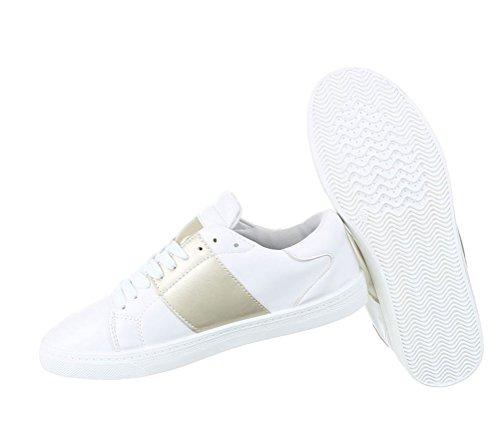 Damen Freizeitschuhe Schuhe Sneakers Sportschuhe Turnschuhe Turnschuhe Gold