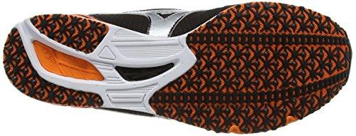 Mizuno Wave Een 11, Zapatillas de Running Unisex Adulto Negro (Black/silver/clownfish)
