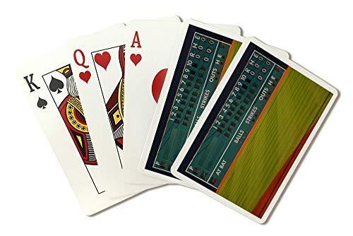 (Baseball Field Scoreboard Photography A-89887 (Playing Card Deck - 52 Card Poker Size with Jokers))
