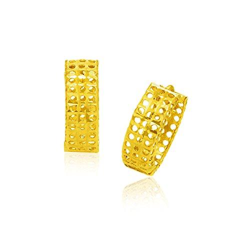 ed Mesh Snuggable Earrings (Mesh Yellow Earrings)