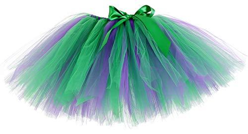 Tutu Dreams Green Purple Tutu Skirts for Women