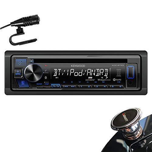 Kenwood KDC-BT23 in-Dash 1-DIN CD Car Stereo Receiver with Front USB Input, Pandora, iHeart Link, Bluetooth and iPhone/Android + Magnet (Old Kenwood Car Stereo)