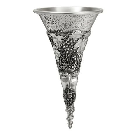 Royal Selangor Hand Finished Vinifera Collection Bacchus Pewter Wine Funnel by Royal Selangor