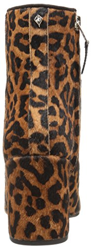 Taye Black Bootie Sam Brown Ankle Leopard Women's Edelman qEawU