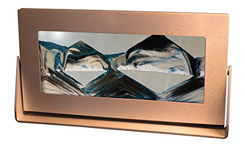 Exotic Sands USA - Manufacturer DIRECT (Moving Sand Pictures) - Medium Silver Frame (Arctic Glacier Clear) Toysmith