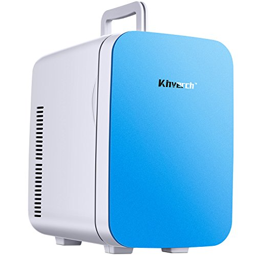 Kinverch Mini Fridge Electric Cooler and Warmer (15L/18Can):110v AC / 12V DC Portable Thermoelectric System,,For Car /Home /Kichen/Junket/Outdoor for frinds / parents/yourself (Blue, 10L) (Blue, 15L)