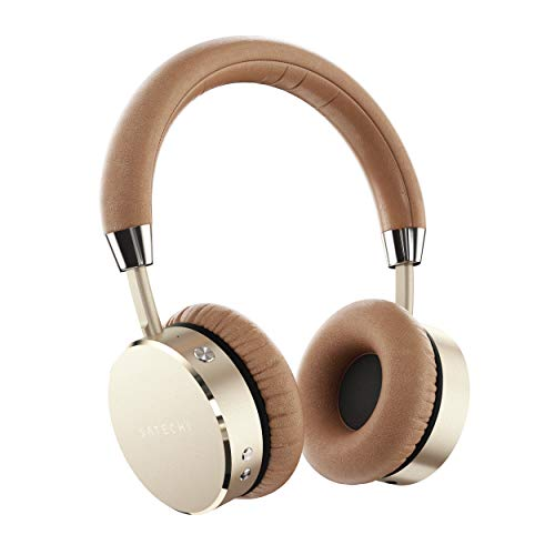 Satechi Aluminum Bluetooth Wireless Headphones with Enhanced Bass 3.5mm Audio-out Jack for iPhone...
