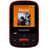SanDisk Clip Sport 4GB MP3 Player, RED With LCD Screen and MicroSDHC Card Slot (Certified Refurbished)