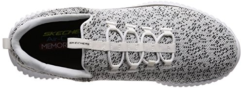 Skechers Sport Elite Flex-muzzin Mens Sneaker Wit, Zwart