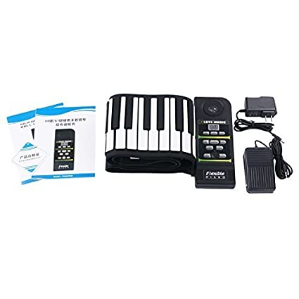 Amazon.com: KONIX Electronic Hand Roll Keyboard Piano, Battery Supported with Loudespeaker 88 Keys Flexible Roll up: Musical Instruments