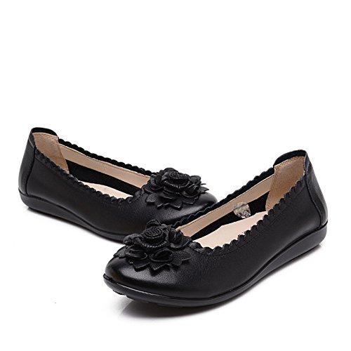 Breve zapatos viento nacional mujeres/Mitad inferior suave y zapatos de las mujeres de edad/Madre con zapatos planos/Mujeres zapatos de las mujeres embarazadas A