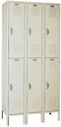 Lyon PP52023 Double Tier Steel Locker Unit with 3 Frames, 36