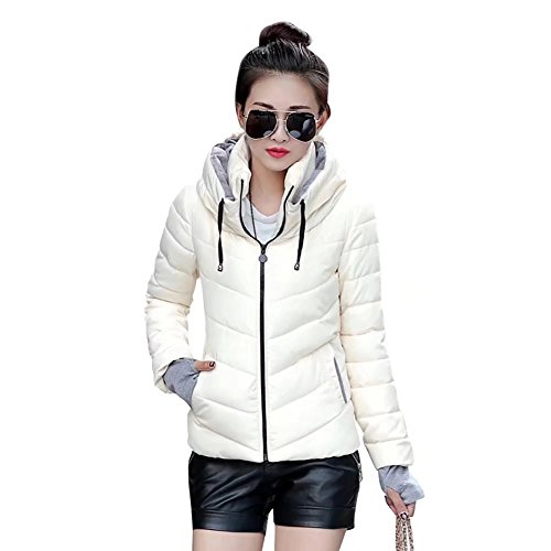 ae772bbeec5 SITENG Womens Winter Jacket Parkas Thicken Plus Size Outerwear Solid Hooded  Coats Short Slim Cotton Padded