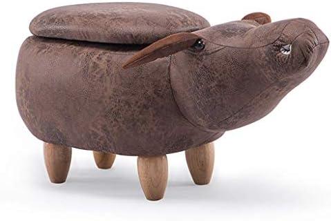 ZGQA-GQA 低スツール変更の靴スツールソファスツール牛桟橋ホールストレージシューズベンチ漫画の動物のスツールストレージフットスツール小スツール(サイズ:牛収納ボックス)