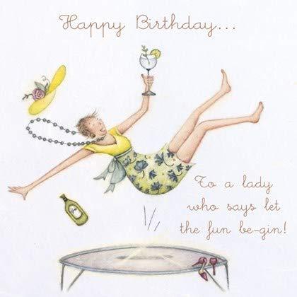Tarjeta de cumpleaños para mujer con ilustración de la gama ...