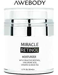 Upgraded Face Moisturizer, Miracle Retinol Moisturizing Face Cream, Anti Aging Formula Reduces Wrinkles, Fine Lines, Daily Face Moisturizer for Dry Skin, Best Daily Face Moisturizer for 2018