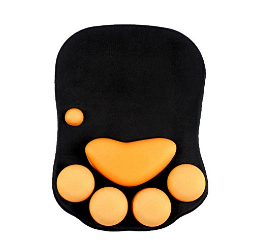 INTSUN Cat Paw Mouse Pad with Wrist Support Non Slip Ergonomic Mousepad Soft Silicone Wrist Rest Mouse Pad for Office Computer Gaming