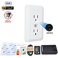 Mini Nanny Cam 15 days Long Standby Electrical Outle Camera Hidden Video Recorder 16GB self Loop Record Hidden Security Camera with PIR Sensor Motion Detection