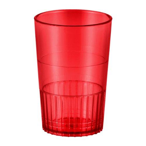 (EMI Yoshi Koyal Neon Lights Shooter Glass, 1.5-Ounce, Red, Set of 500 )