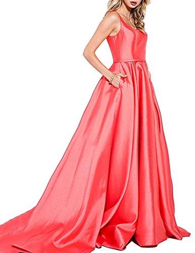 Women's Dresses Prom Green 2018 Long Fanciest Satin Evening Dresses vRUxnAAwd