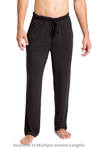 Bottoms Shorts Shorts (Fishers Finery Mens Ecofabric Jersey Pajama Pant Christmas Gift Black, XXL-Short)