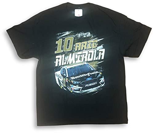 (Aric Almirola #10 Smithfield Crew Neck Adult Men's T-Shirt X-Large Black)