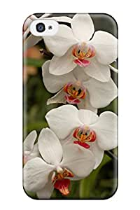 Hot Awesome Design White Flowers Hard Case Cover For Iphone 4/4s