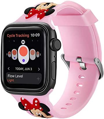 Cute Minnie Mouse Silicone Sport Band for Apple Watch Series