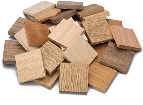 モザイクチップス ミックス 30×30×厚さ5mm 5種類各50個 合計250個入 木材