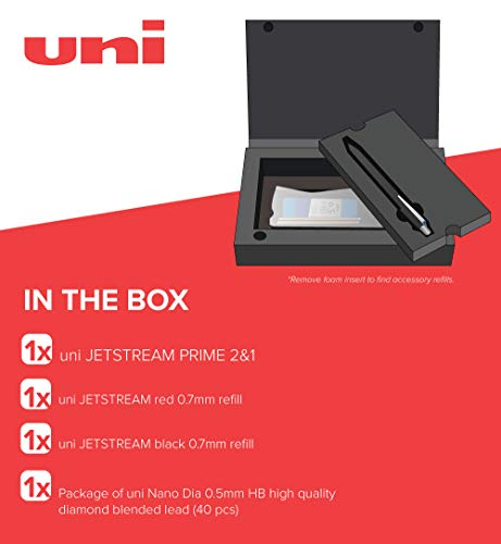 uni JETSTREAM PRIME 2&1 - Red and Black 0.7mm ink + 0.5mm Pencil with Exclusive uni Box by uni (Image #7)
