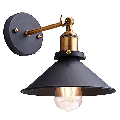 Metal Wall Sconce Lighting Shade,Oak Leaf 180 Degree Adjustable Industrial Vintage Sconce Light Wall (Oak Bathroom Lighting)