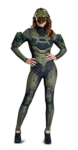 Disguise Women's Master Chief Adult Female Deluxe Costume, Green, S (4-6)