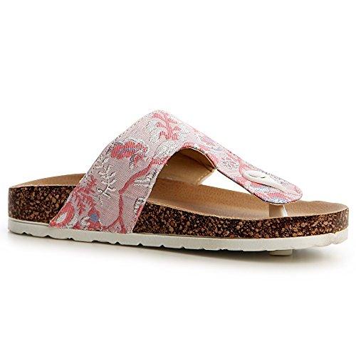 topschuhe24 topschuhe24 Femmes Femmes Sandales Rose Sandalettes URUnv